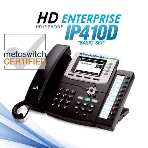 HD IP phone Enterprise IP4100 Basic Set for Hosted VoIP Telephone Systems from North American Telecom